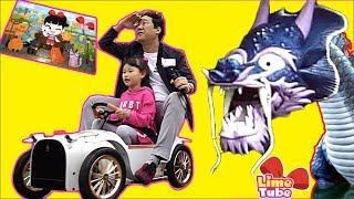 라임의 마법 퍼즐맞추고 수영장에 가다! 꼬마버스 타요텐트 장난감 놀이 ride car for kids LimeTube & Toy 라임튜브