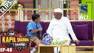Anna Hazare gives moral teaching to Khajoor -The Kapil Sharma Show-Ep.48-2nd October 2016