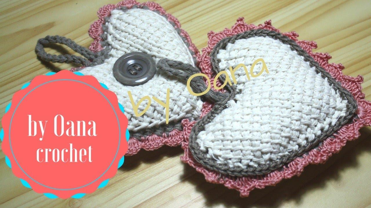 Uncinetto Shabby.Tunisian Crochet Heart Shabby Chic By Oana Youtube