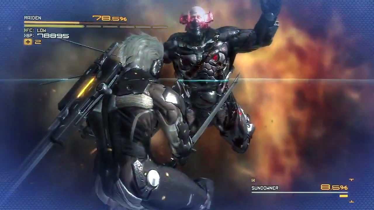 metal gear rising sundowner boss fight hd youtube