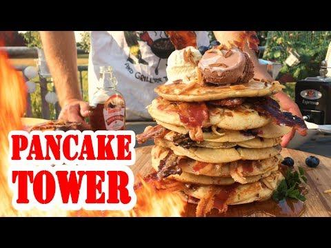 Bacon-Pancake-Tower | Johnnys Breakfast | BBQ Grill Rezept Video - Die Grillshow 259