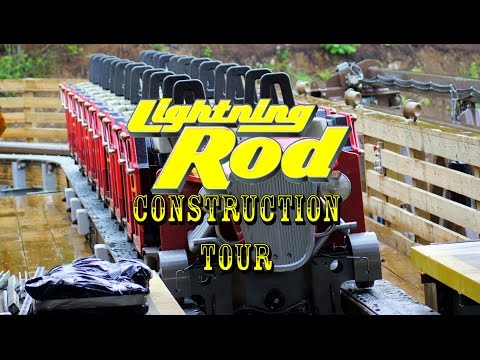 EXCLUSIVE Lightning Rod Roller Coaster Construction Tour Dollywood