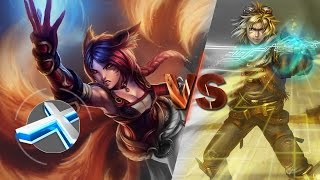 Ahri vs Ezreal :: 400 cs in 35min | Season 6 League of Legends (LoL) 1080p 60 FPS