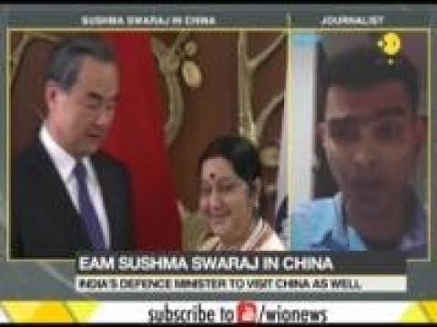 MEA Sushma Swaraj reaches China to meet her counterpart Wang Yi and also attend SCO meeting