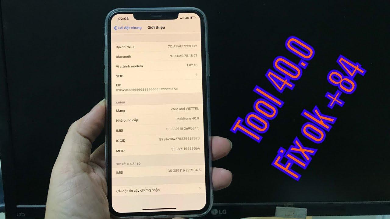 (Hot đã fix +84) Nạp Tool 40.0 cho iphone lock