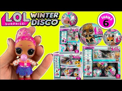 LOL WINTER DISCO!  LOL Surprise Series 6  - Glitter Globe LOL Dolls, LOL Fluffy Pets + Lils!  Pt 3