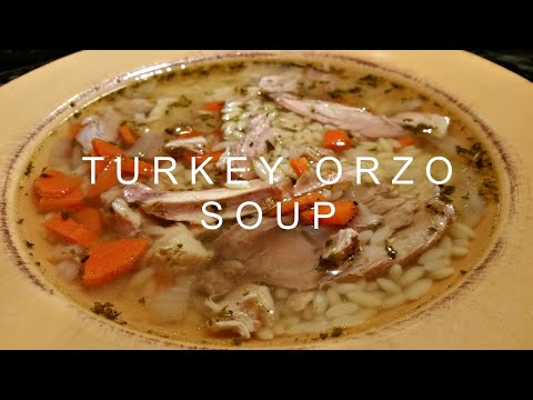 Turkey Orzo Soup Made with Thanksgiving Leftovers