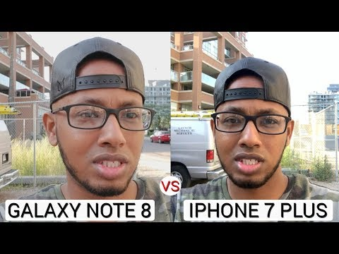 Note 8 vs Iphone 7 Plus Video Camera Test | Optical Image Stabilizer Test