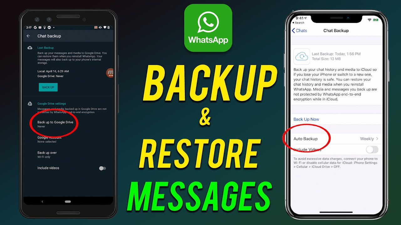 How to Backup and Restore Whatsapp Messages (Android and iOS) - YouTube