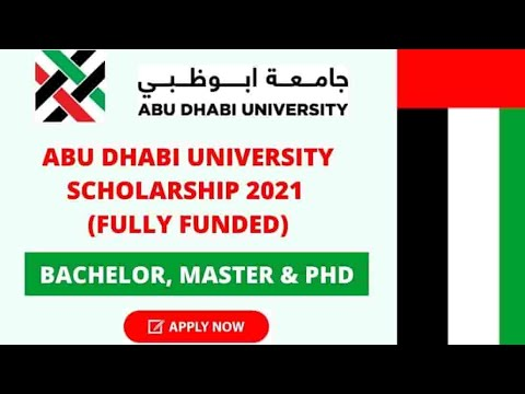 How to Apply Abu Dhabi University Scholarships 2021 | BS, MS & PHD | Fully Funded