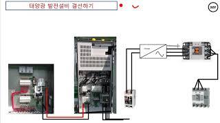 태양광 발전설비 결선하기(2)[접속반-인버터]