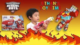 Playskool Hasbro HOOK & LADDER HEATWAVE Transformers Rescue Bots Heroes Toy Review