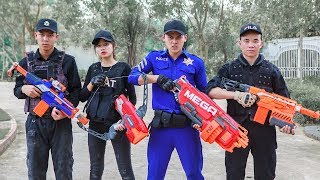 LTT Nerf War SEAL X Warriors Nerf Guns Fight Attack Criminal Group Rescue Captain Police