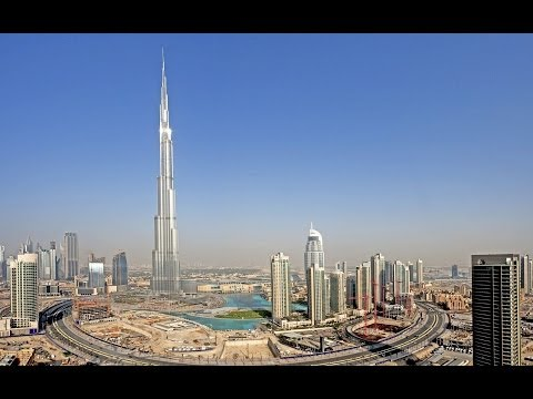 DJI Phantom High Altitude 2425ft climb of Burj Khalifa World's Tallest Building