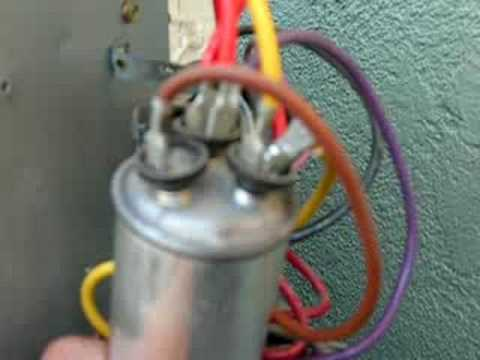 What A Blown Dual Capacitor Looks Like Youtube