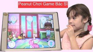 Bé Peanut Chơi Game Bác Sĩ - Game Khủng Long [kênh bé Peanut & Bé Mango]- Game Vui