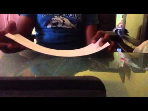 How to make a cylinder paper plane