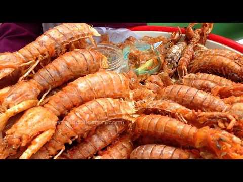 PHNOM PHEN BEST STREET FOOD - ASIA FOOD Dried Fish, Seafood, Lobster, frog