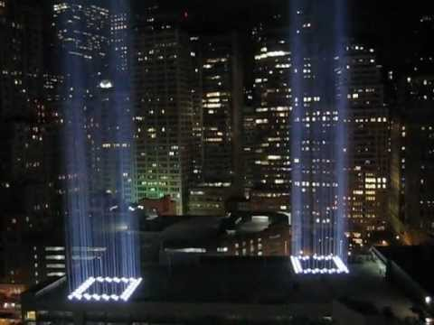 9/11 World Trade Center Light Towers Up Close