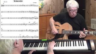 Sidewinder - Jazz guitar & piano cover ( Lee Morgan )