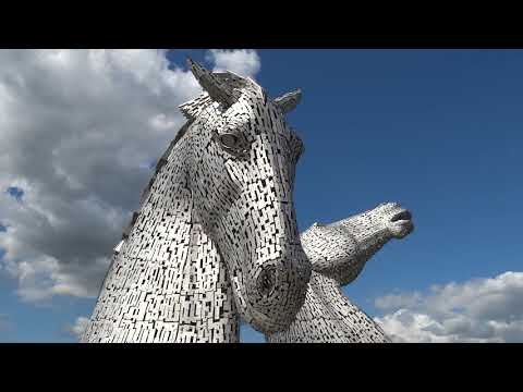Spring Kelpies Horse Sculptures Forth And Clyde Canal Falkirk Scotland