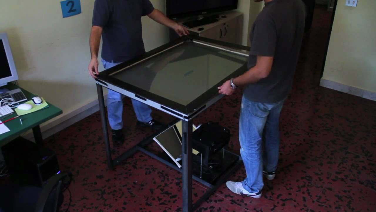 how to build your own multitouch table youtube