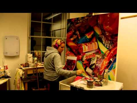 Sarah Graham painting 'Sweet Dreams' - a Time Lapse film by Will Ferguson