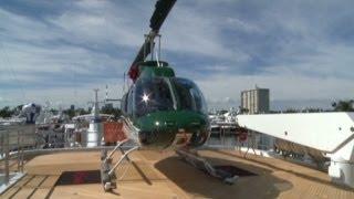 $37M mega yacht with a helipad