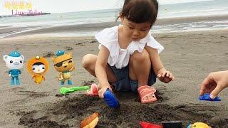 디즈니 주니어 옥토넛 모래놀이 2편 장난감 모래성 만들기 Disney Octonauts Sand Play Toys おもちゃ đồ chơi 라임튜브