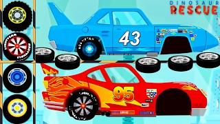 Dinosaur Cartoons : Dinoco Cars, McQueen Cars, Monster Truck - Car Driving & Truck Driver for Kids