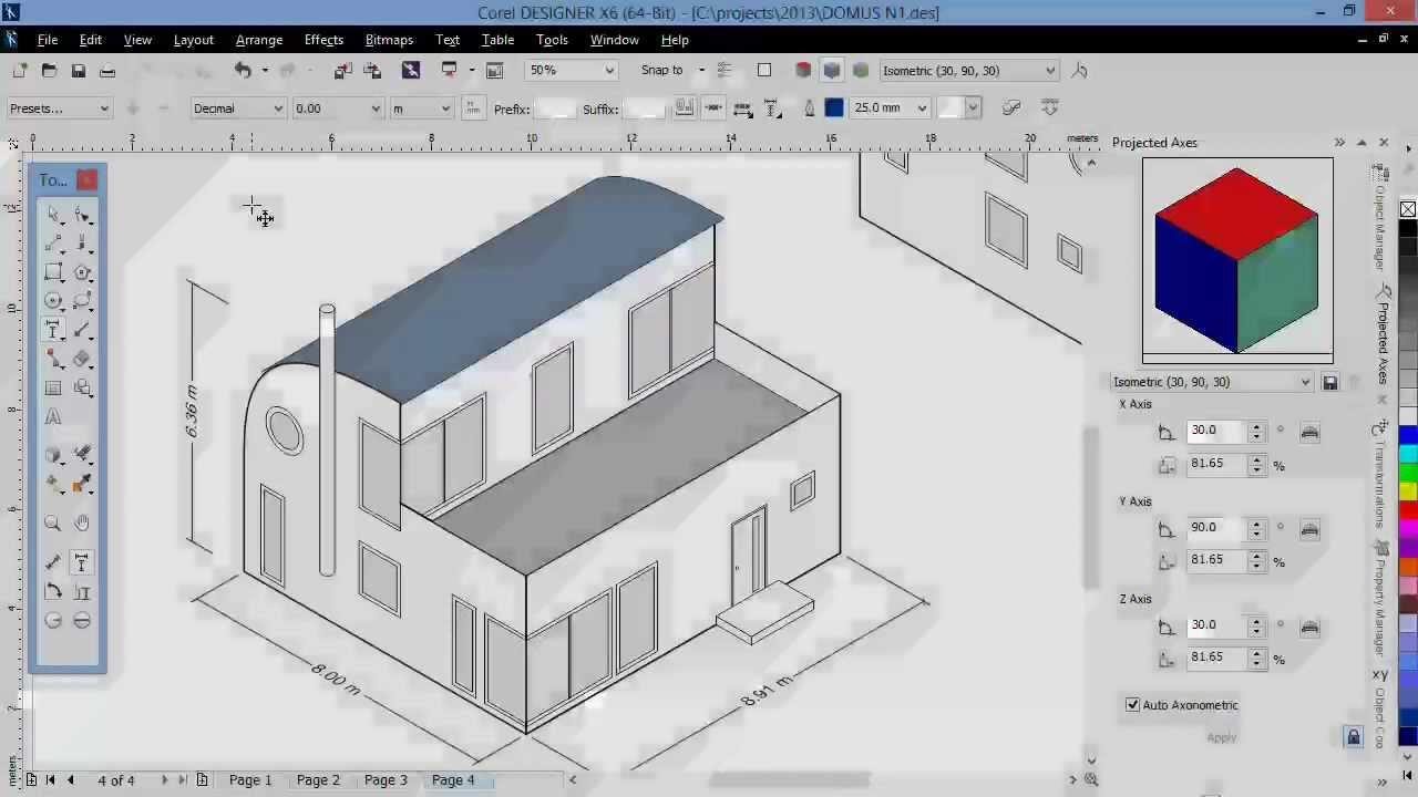 isometric dimensioning tools in corel designer x6