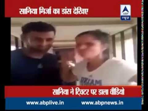 Sania Mirza celebrates Pakistan's win with Shoaib Malik by recording a Dubsmash video