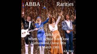 ABBA When All Is Said And Done - Instrumental Demo [AJLT001]