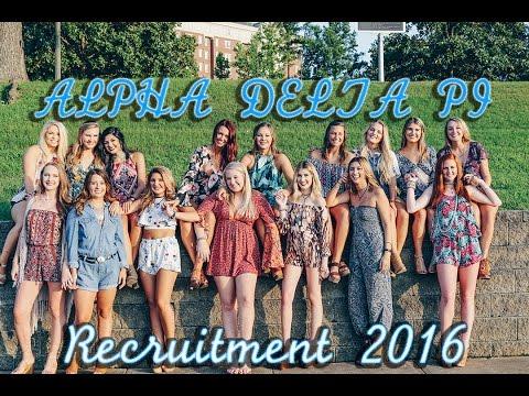 University of Alabama  Alpha Delta Pi Recruitment  2016