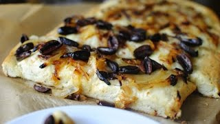 Herbed Focaccia With Caramelized Onions And Olives