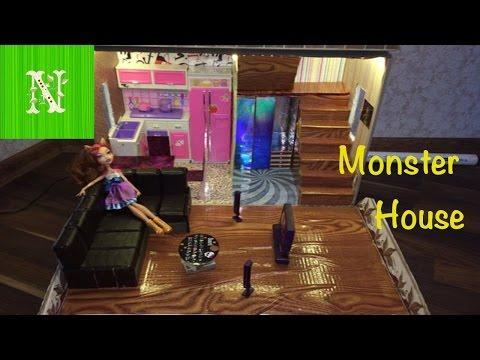 видео: Как сделать дом и мебель для кукол. monster house своими руками (часть 2)