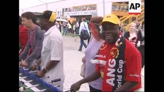 Mexican and Angolan fans begin arriving for Group D match