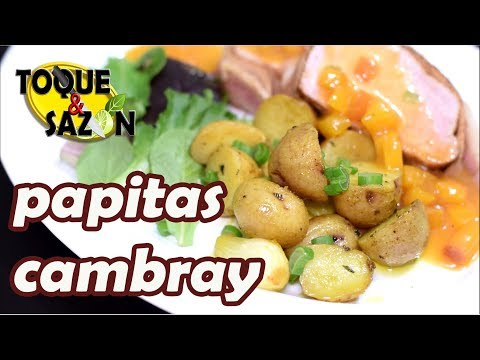 PAPITAS CAMBRAY A LA MANTEQUILLA, ROMERO Y CURRY | Tu mejor Guarnición
