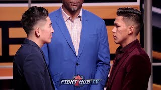 LEO SANTA CRUZ VS. MIGUEL FLORES - FULL FACE OFF VIDEO
