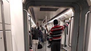 Inside Delhi Metro | Blue line metro | Dwarka to Noida