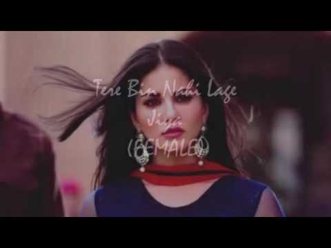 Tere bin nahi lage jiya | female version |full song | hd video