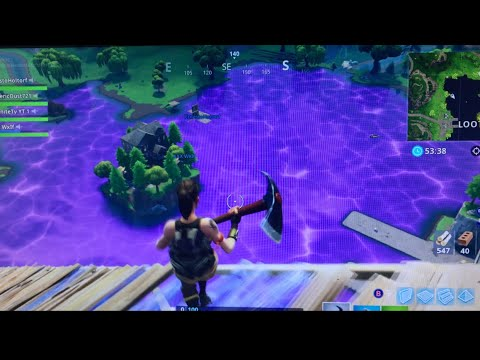 LOOT LAKE NOW A GIANT PURPLE BOUNCE PAD | Fortnite EASTER EGG CUBE DESTROYS LOOT LATE EVENT