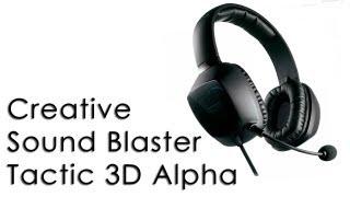 Creative Sound Blaster Tactic 3D Alpha Recenzja\Review (mic sample mp3)