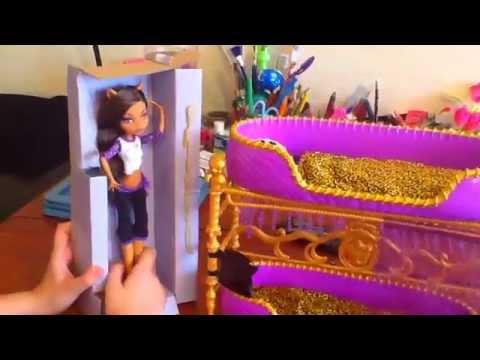 Двухъярусная КРОВАТЬ для КУКОЛ * Мебель для кукол Монстер Хай, Эвер Афтер Хай, Барби  своими руками