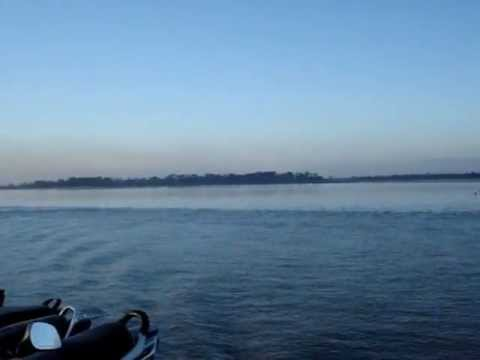 Evening cruise across the Brahmaputra River, Assam