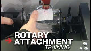 Laser Rotary Attachment Training | Engraving 2 logos on coffee cup