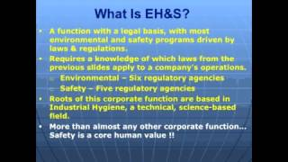 Intro to EH&S