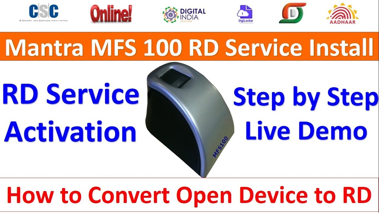 How to Convert Mantra MFS 100 Biometric Device to (RD) Registered Biometric  Device Step by Step Liv
