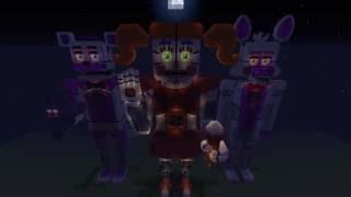 Circus Baby Minecraft Statue Showcase