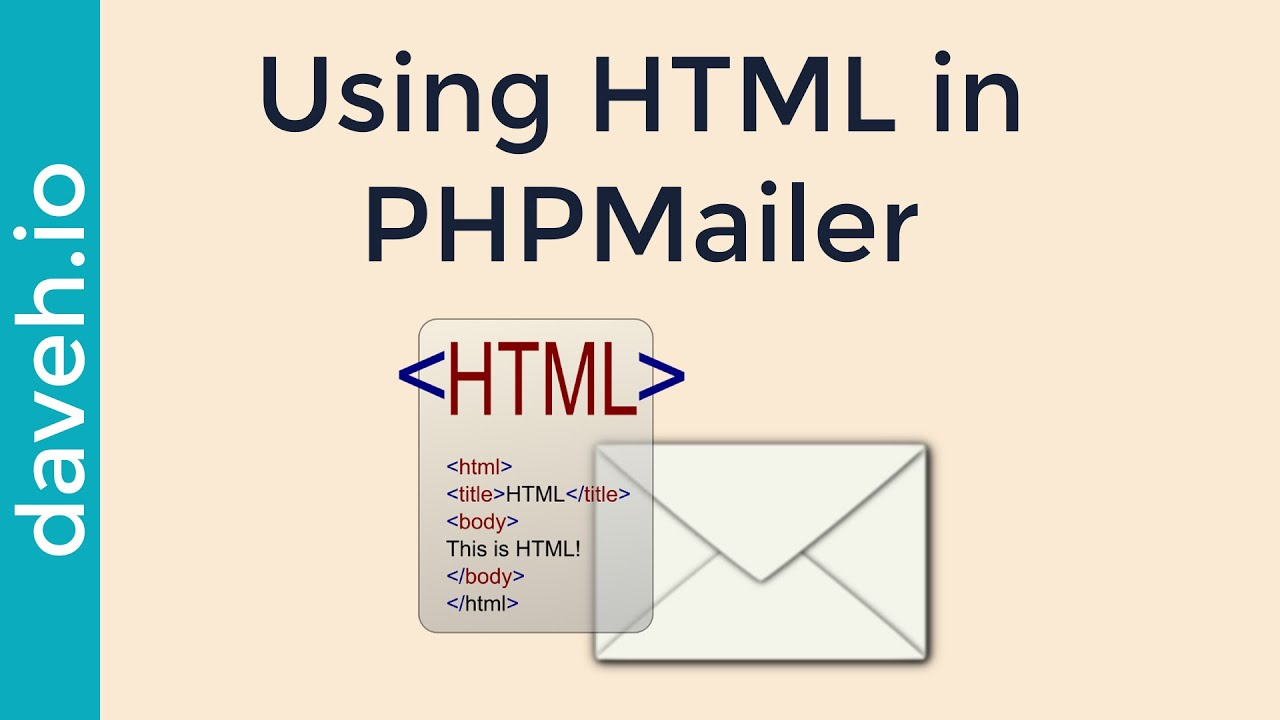 Format the Body of an email using HTML in PHPMailer - YouTube